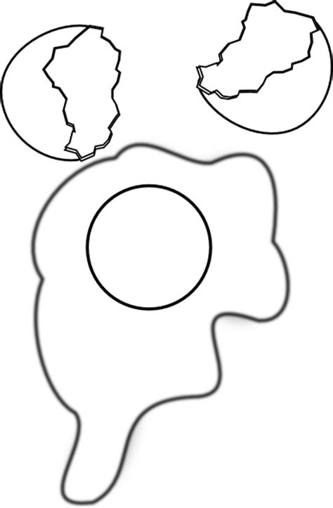 Cracked Egg Coloring Page by Cracked Egg Shells Coloring Pages