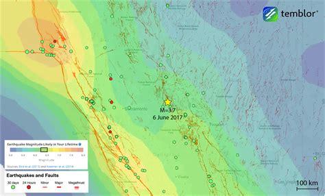 california earthquake prediction map m 3 7 earthquake near south lake tahoe temblor net
