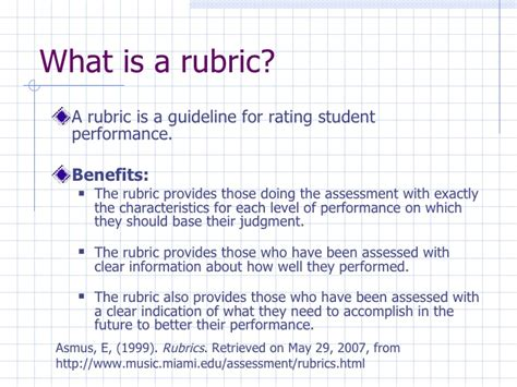 what is a what is a rubric francine