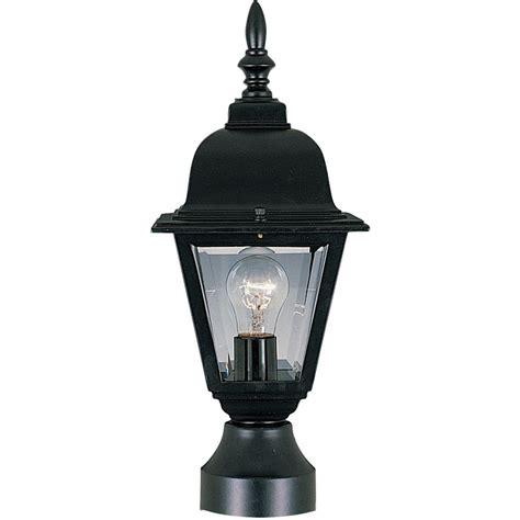 light pole home depot maxim lighting builder cast 1 light black outdoor pole