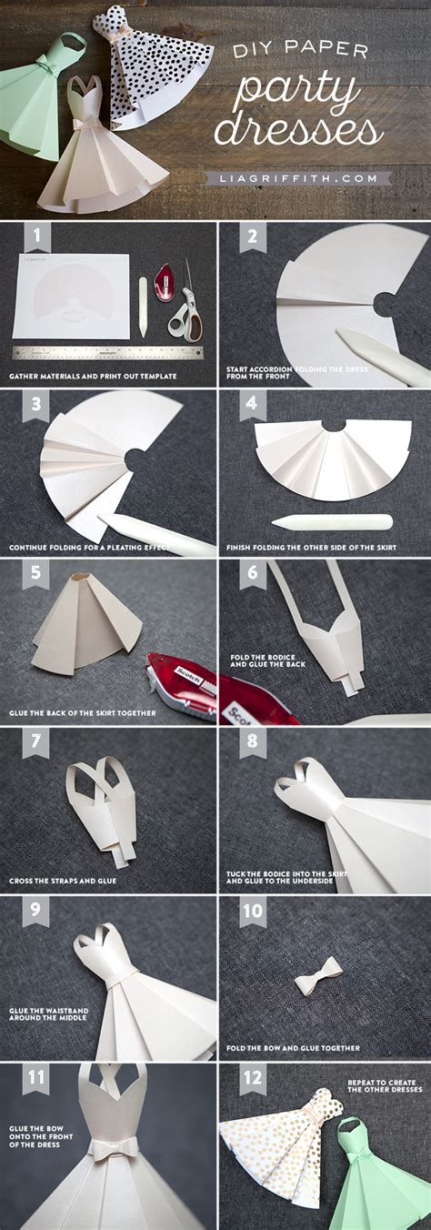 How To Make A Paper L For - paper dress diy wedding decorations lia griffith