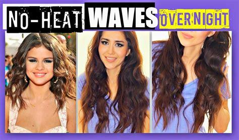 Hairstyles For Medium Length Hair No Heat by No Heat Selena Gomez Curls Overnight Tutorial Heatless