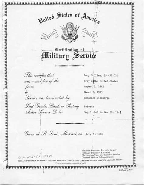 Army Discharge Records Discharge Papers Image Search Results