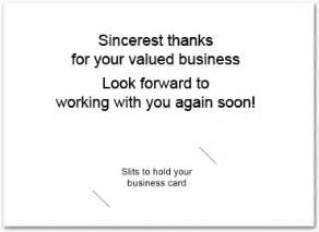 thank you for your business card messages business thank you card with slits business greeting cards