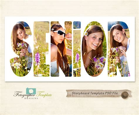 free senior templates for photoshop senior photography storyboard templates 10x20 psd photoshop