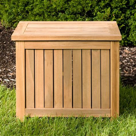 Box Outdoor Holley 24 Quot Teak Outdoor Storage Box Outdoor