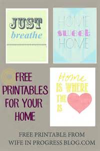 free printables for home free printables in progress