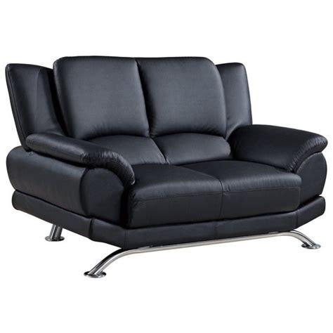 global office furniture usa global furniture usa 9908 leather loveseat in black u9908 bl l w legs m