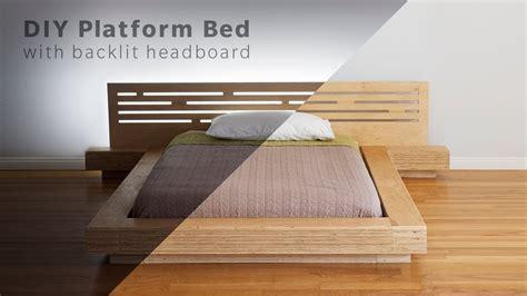 plywood platform bed diy modern plywood platform bed part 1 frame
