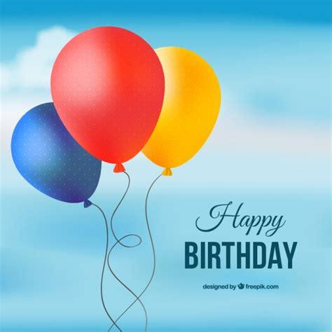 clipart compleanno gratis carta di felice compleanno con palloncini colorati