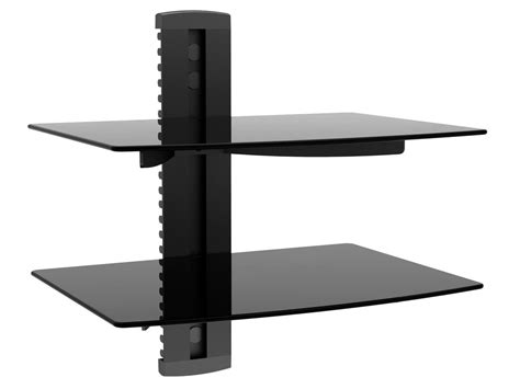 shelves wall mount monoprice 2 shelf wall mount bracket for tv components monoprice