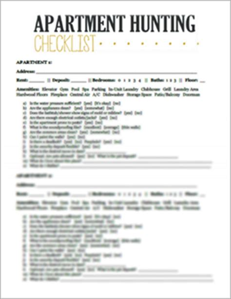 Apartment Handing Checklist City Leaper Moving Tips And Relocation Resource Printables