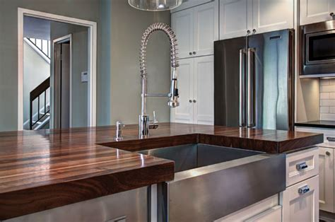 Kitchen Counter Islands by Can Undermount Sink Be Used With Wood Countertops
