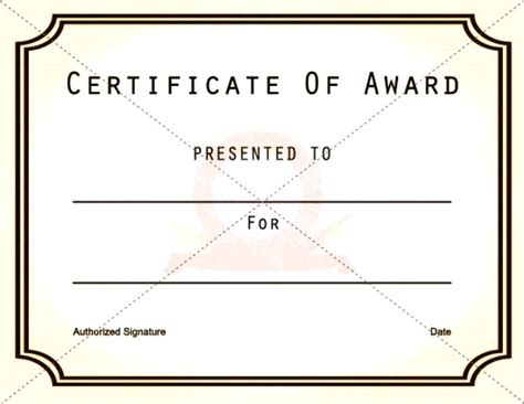 free printable award template premium certificate of excellence certificate templates