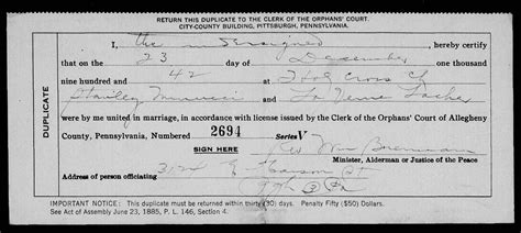 Allegheny county pa marriage records genealogy