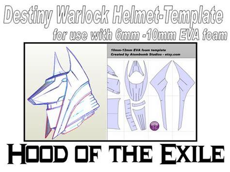 destiny card template destiny warlock helmet of the exile by atombombstudios