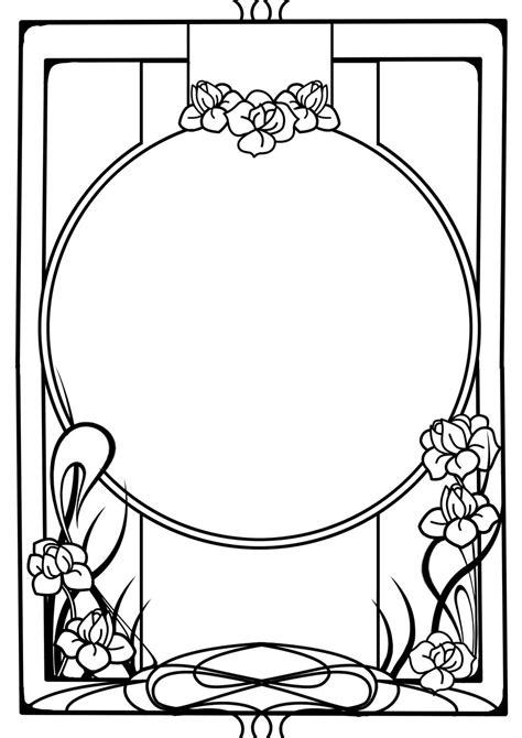 design art templates art nouveau frame cliparts co