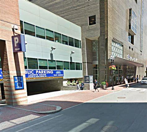 Find A Parking Garage Near Me by Lafayette Garage At 1 Avenue De Lafayette Boston Parking