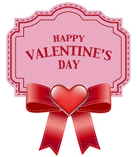 happy valentines day clip free happy s day label transparent png clip image