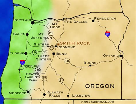 oregon on map directions smithrock smith rock state park guide