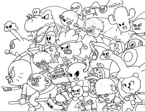 cartoon network coloring pages games all characters from amazing world of gumball coloring