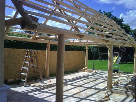 Tiki Hut Construction Bamboo Hut Construction Www Imgkid The Image Kid