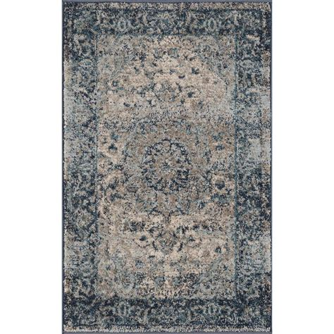 2 x 3 area rugs tayse rugs winslow indigo 2 ft x 3 ft area rug wns1314 2x3 the home depot