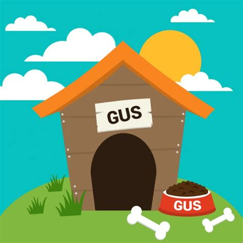 dog house vector dog house and bones vector free download