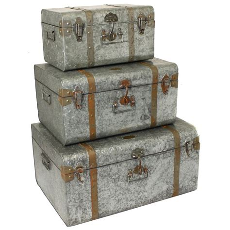decorative trunks galvanized metal decorative trunk cases