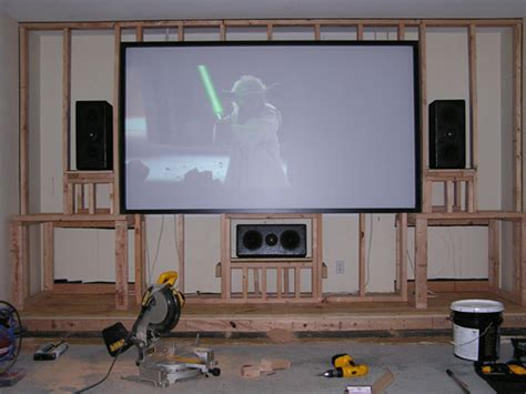 home theater screen wall design is drywall better than plywood for a screen wall avs
