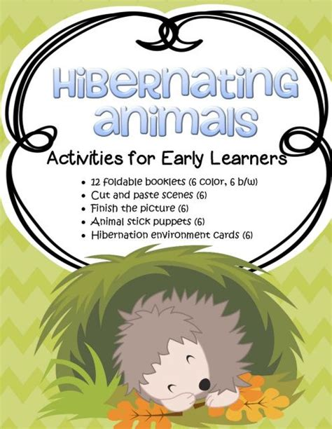 kindergarten activities on hibernation 209 best winter animals in winter incl hibernation