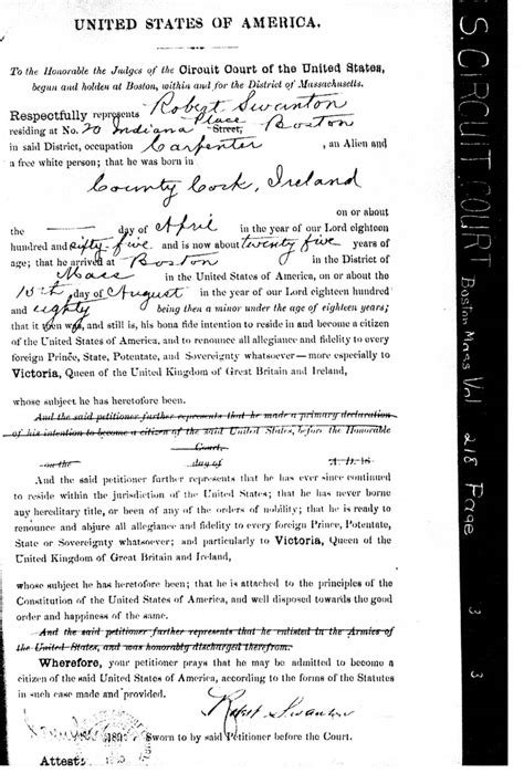 Boston Ma Birth Records Massachusetts Naturalization Citizenship Records