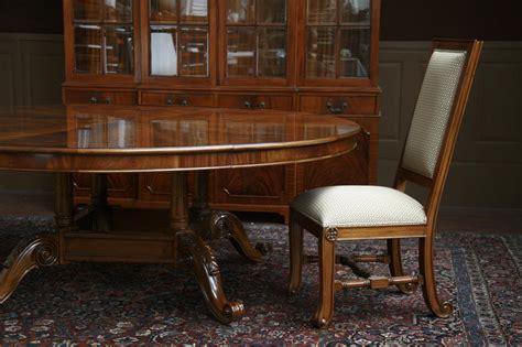 large oversized  dining table large  mahogany