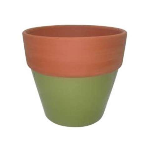 4 5 in green glazed assortment terra cotta flower pot