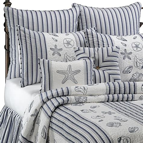 bed bath beyond quilts seaside stripe quilt 100 cotton bed bath beyond