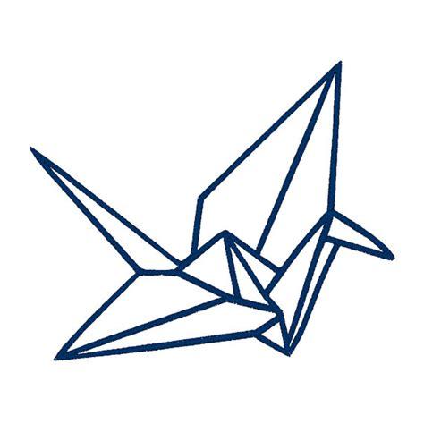 Origami Crane Designs - origami crane applique embroidery design pattern for