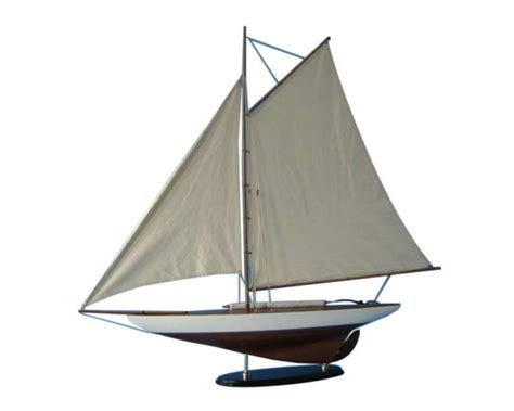 contender boats wood wooden america s cup contender model sailboat decoration 40 quot