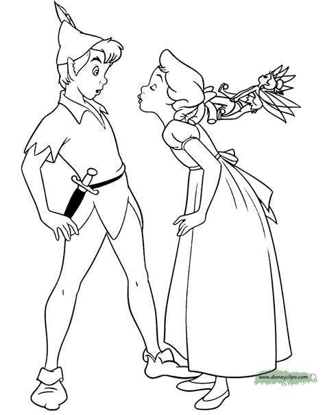 peter pan tinker bell printable coloring pages disney