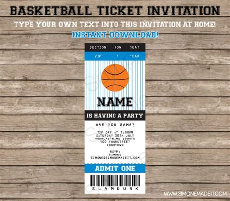 10 Best Images About Basketball Invite On Pinterest Basketball Nets Bat Mitzvah And Nba Basketball Ticket Template Free