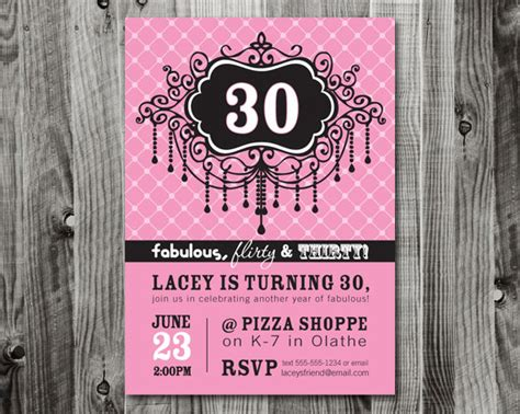 30th birthday party invitation wording ideas new party ideas