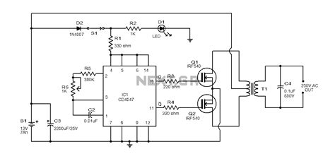 simple inverter circuit using 4 28 images simple low