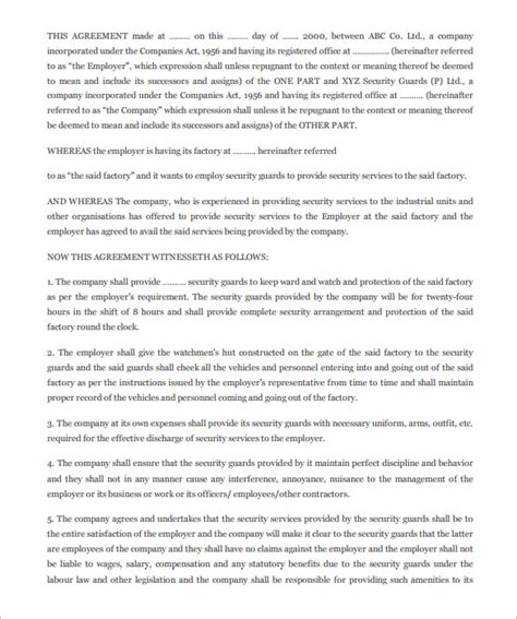 Security Service Agreement Template 11 Security Contract Templates Free Word Pdf Format Download Security Service Contract Template Free