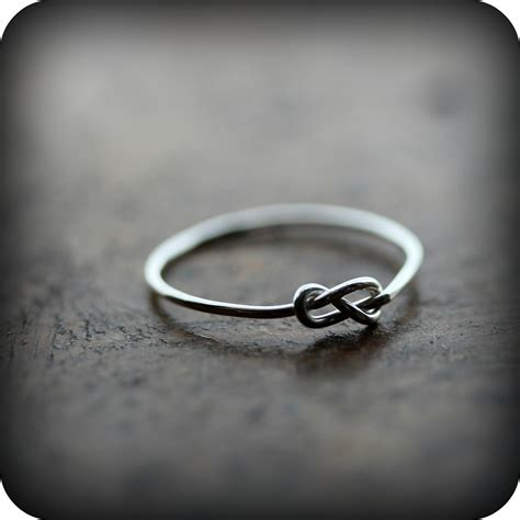 infinity knot ring recycled sterling silver promise ring