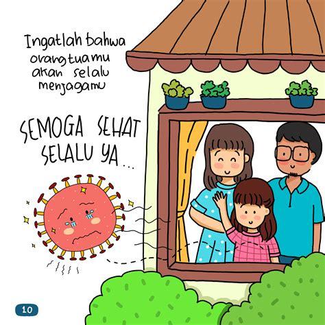 gambar kartun virus corona  covid   anak