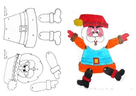Imagenes De Santa Claus Para Armar | manualidad navidad papa noel articulado para colorear