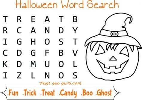 halloween coloring pages word searches printable coloring page