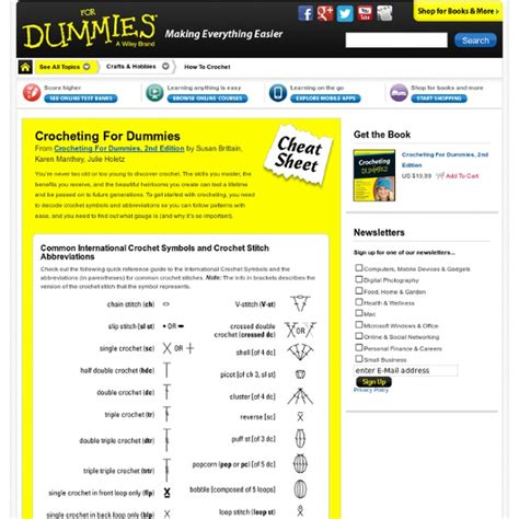 pattern making for dummies pdf crocheting patterns for dummies creatys for
