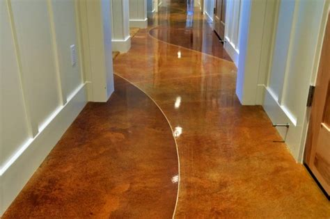 Stained concrete flooring interior exterior Contemporary milwaukee by lauger concrete
