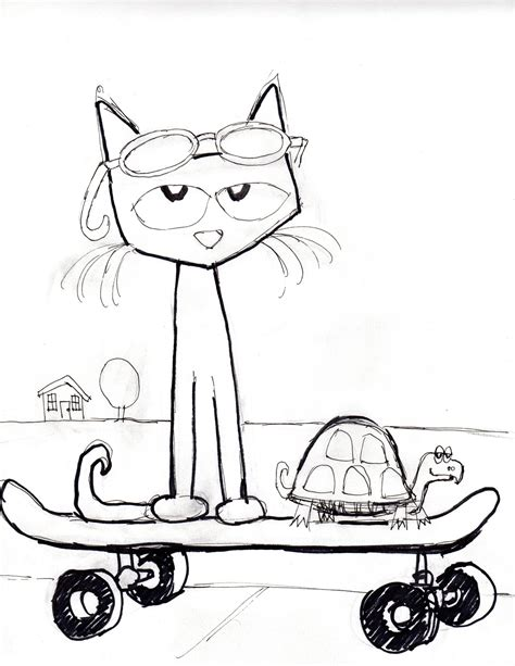 pete the cat coloring page shoes pete the cat coloring page coloring home
