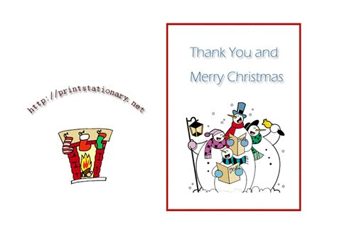 christmas thank you card templates free 5 best